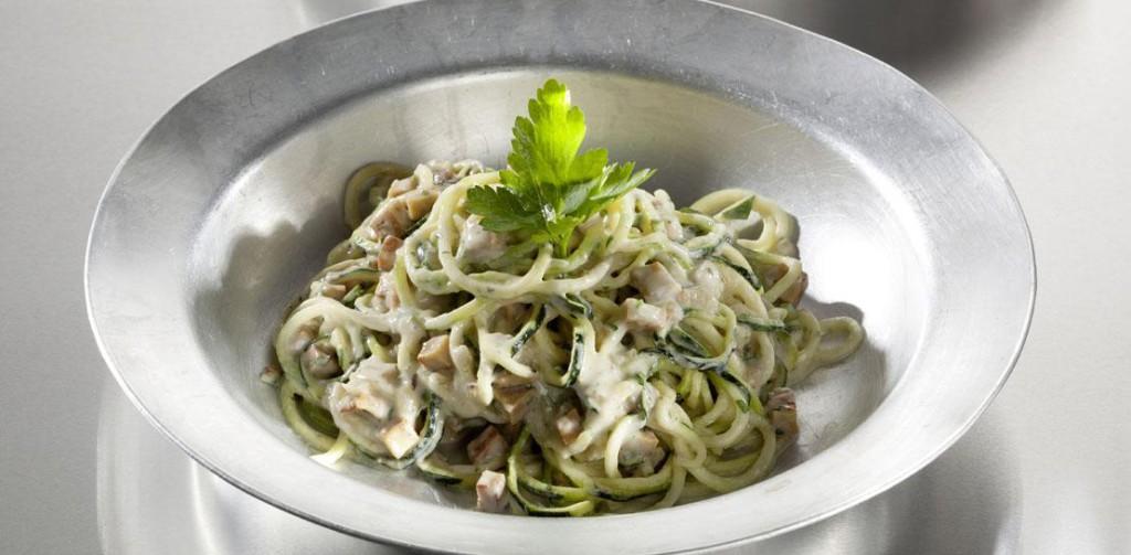 Courgette Spaghetti Alla Carbonara