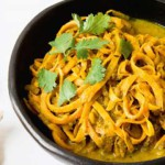 Spirelli Recept: Tagliatelle van zoete aardappel, kerrie en kokosmelk